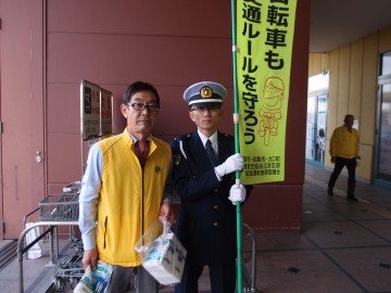 幹事 L和田政明 江南警察署の方と