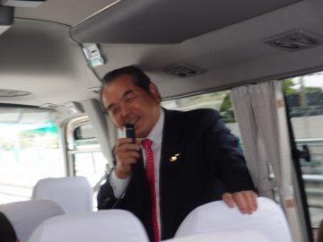 会長挨拶 L野田 泰義 楽しく向かうバスの中で!